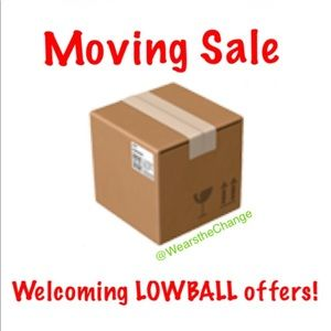 Closet clear out moving sale